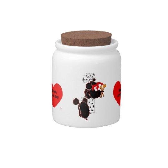 Gulliver's Angels Bone Appetit Poodle Treat Jar Candy Jars