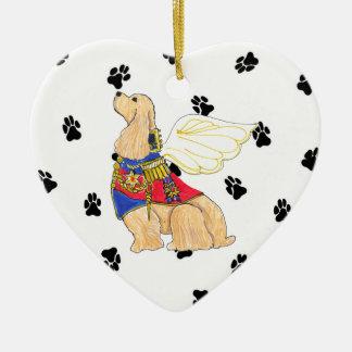 Gulliver's Angels Cocker Spaniel Ceramic Heart Ceramic Ornament
