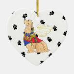 Gulliver's Angels Cocker Spaniel Ceramic Heart Ornaments