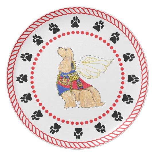 Gulliver's Angels Cocker Spaniel Dinner Plate