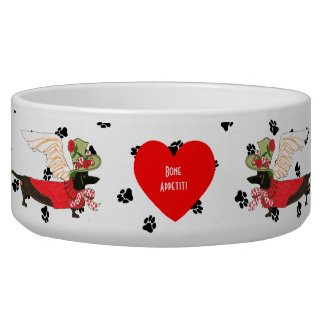 Gulliver's Angels Dachshund Dog Bowl