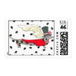 Gulliver's Angels Dapple Dachshund Postage Stamp