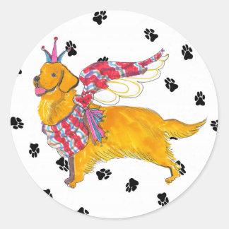 Gulliver's Angels Golden Retriever Sticker