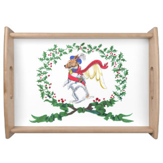 Gullivers Angels Jack Russell Holiday Serving Tray
