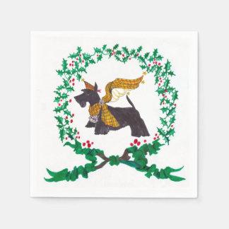 Gulliver's Angels Scottie Christmas Napkins