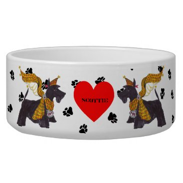 Christmas Themed Gullivers Angels Scottie Dog Bowl