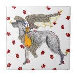 Gulliver's Angels Scottish Deerhound Tile Trivet