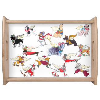 Gullivers Angels Serving Tray- White Serving Tray