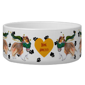 Gullivers Angels Sheltie Dog Bowl