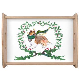 Gulliver's Angels Sheltie Holiday Serving Tray