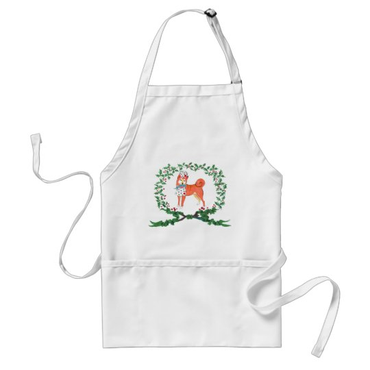 Gulliver's Angels Shiba Inu Holiday Barker Apron