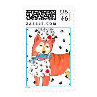 Gulliver's Angels Shiba Inu Postage Stamp