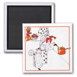 Gulliver's Angels Sous Chef 2 Inch Square Magnet