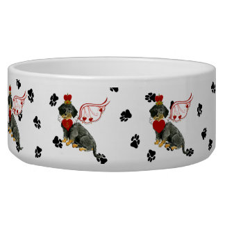 Gulliver's Angels Wire Haired Dachshund Dog Bowl