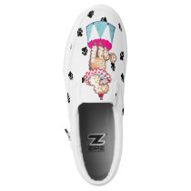Gullivers Apricot Circus Poodle Slipon Dog Walking Slip-On Sneakers