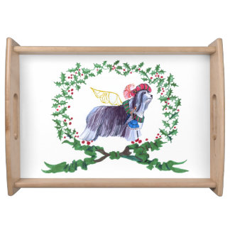 Gulliver's Bearded Collie Holiday Serving Tray