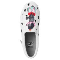 Gullivers Black Circus Poodle Slipon Dog Walking Slip-On Sneakers