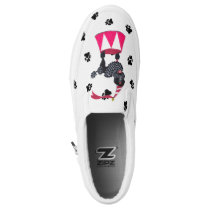 Gullivers Black Circus Queen Poodle Dog Walking Slip-On Sneakers