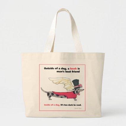 Gulliver's Dapple Doxie Book Angel Bags