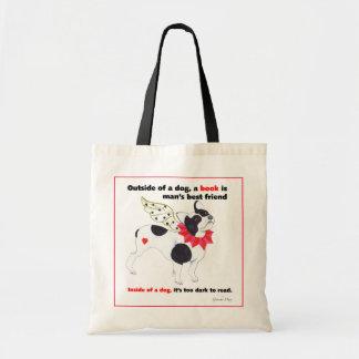 Gulliver's French Bulldog Book Angel Tote Bag
