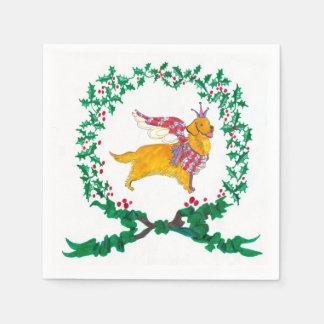 Gulliver's Golden Retriever Christmas Napkins