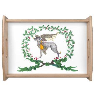 Gulliver's Scottish Deerhound Holiday Serving Tray