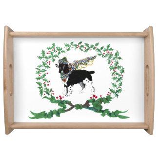 Gulliver's Springer Spaniel Holiday Serving Tray