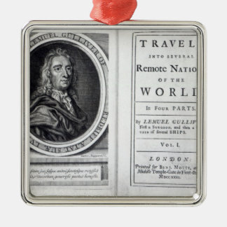 'Gulliver's Travels' by Jonathan Swift, 1726 Metal Ornament