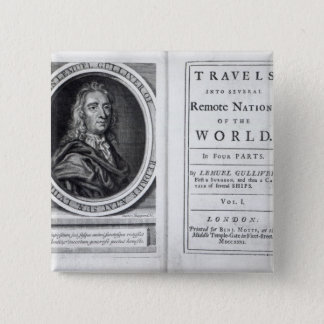 'Gulliver's Travels' by Jonathan Swift, 1726 Pinback Button