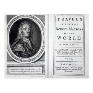 'Gulliver's Travels' by Jonathan Swift, 1726 Postcard