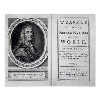 'Gulliver's Travels' by Jonathan Swift, 1726 Poster