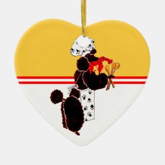 Gullliver's Bone Appetit Ceramic Heart Ceramic Ornament