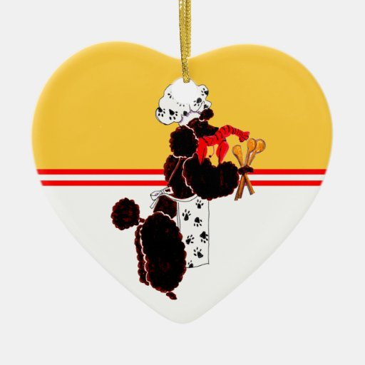Gullliver's Bone Appetit Ceramic Heart Ceramic Ornament