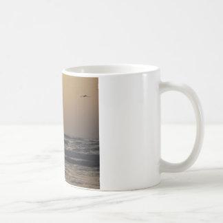 Gulls and Sunset on Texas Coast Coffee Mug