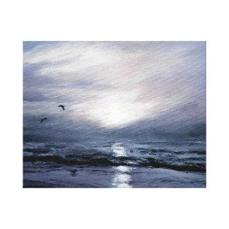 Gulls at Sundown Canvas Print