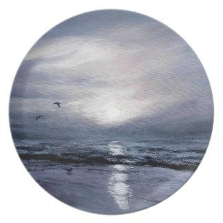 Gulls at Sundown Plate