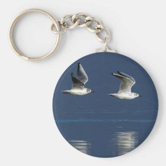 Gulls flying keychain