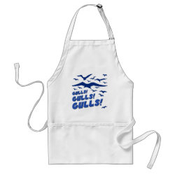 Apron with Gulls! Gulls! Gulls! design