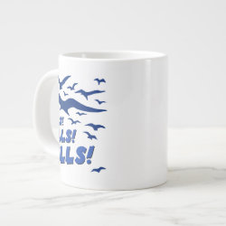 Jumbo Mug with Gulls! Gulls! Gulls! design