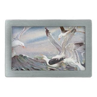 Gulls In Ocean Rectangular Belt Buckle