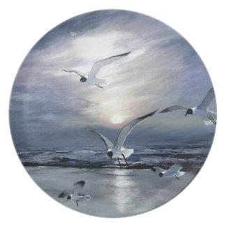 Gulls landing plate