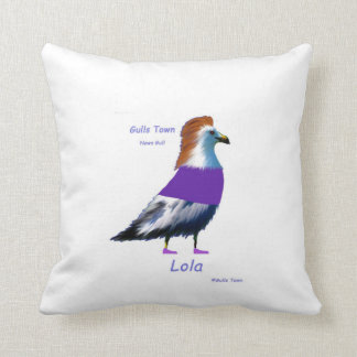 Gulls Town Charley and Lola Throw Pillow