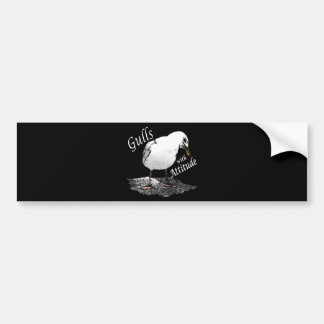 Gulls With Attitude Bumper Sticker