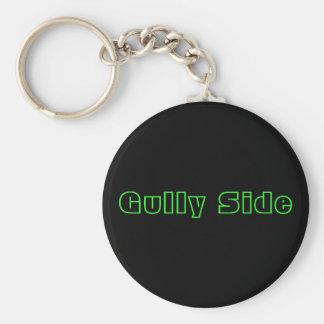 Gully Side Basic Round Button Keychain