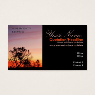 Gully Sunset Quench Business Card