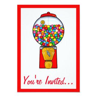 Gum Ball Birthday Party Card
