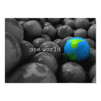 Gum Ball Earth Globes One World Card