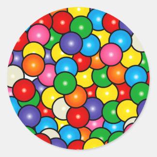 Gum Balls Classic Round Sticker