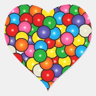 Gum Balls Heart Sticker