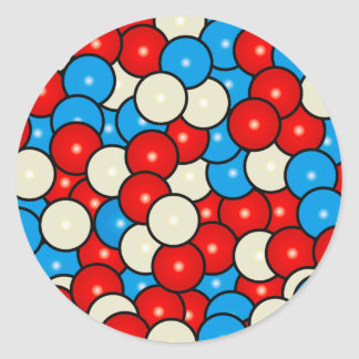 Gum Balls in Red, White and Blue Classic Round Sticker